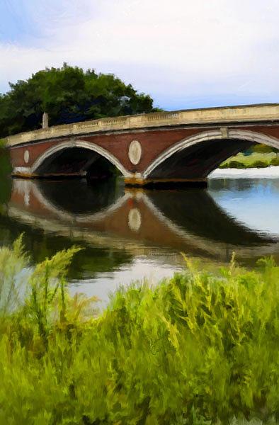 Weeks Foot Bridge Print - Weeks Foot Bridge by Edward Cardini