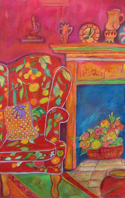 Chair Painting - Welcome by Marlene Robbins
