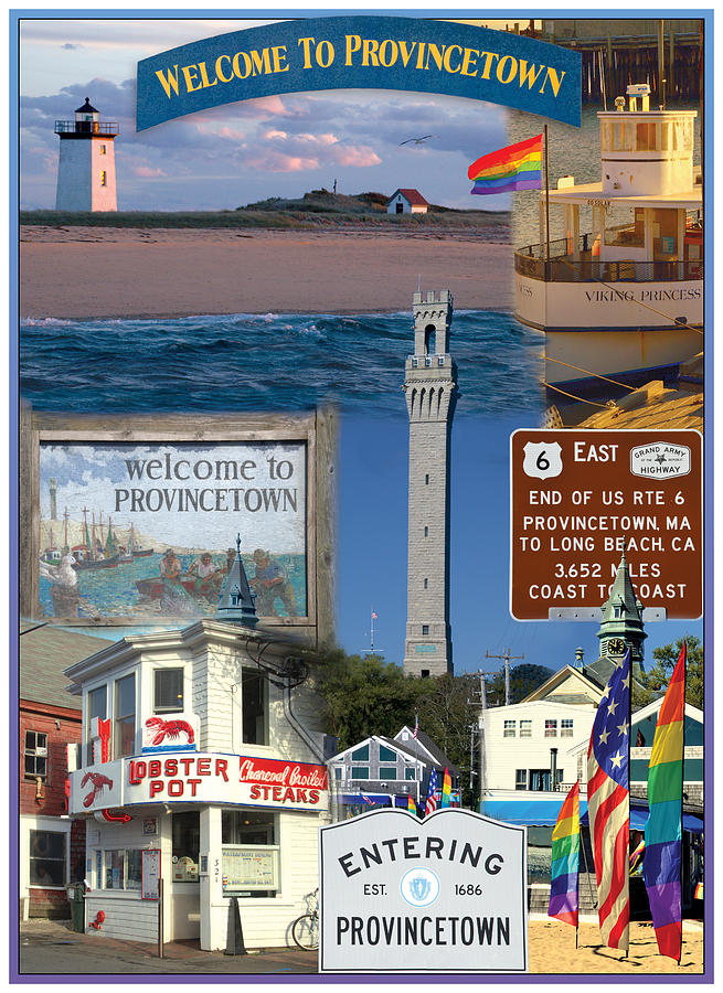 Provincetown Photograph - Welcome To Provincetown by Adlai Neubauer