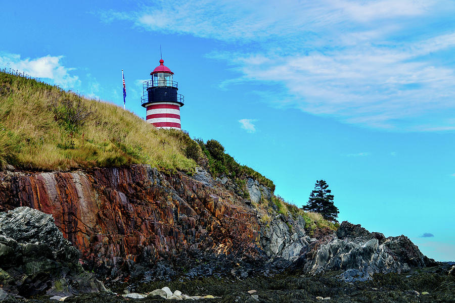 West Quoddy Head Lighthouse - Maine by Marilyn Burton
