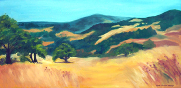 Landscape Print - Western Hills by Anne Trotter Hodge