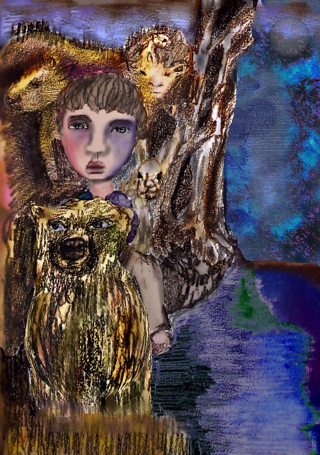 Bear Mixed Media - When  by Cynthia Richards