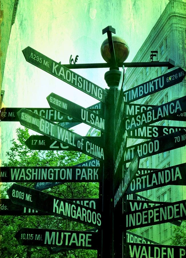Urban Photograph - Where To Go by Cathie Tyler