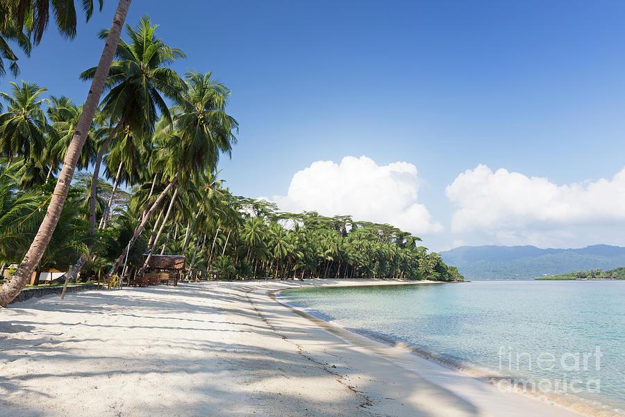 White Beach Near Port Barton Palawan Island Philippines