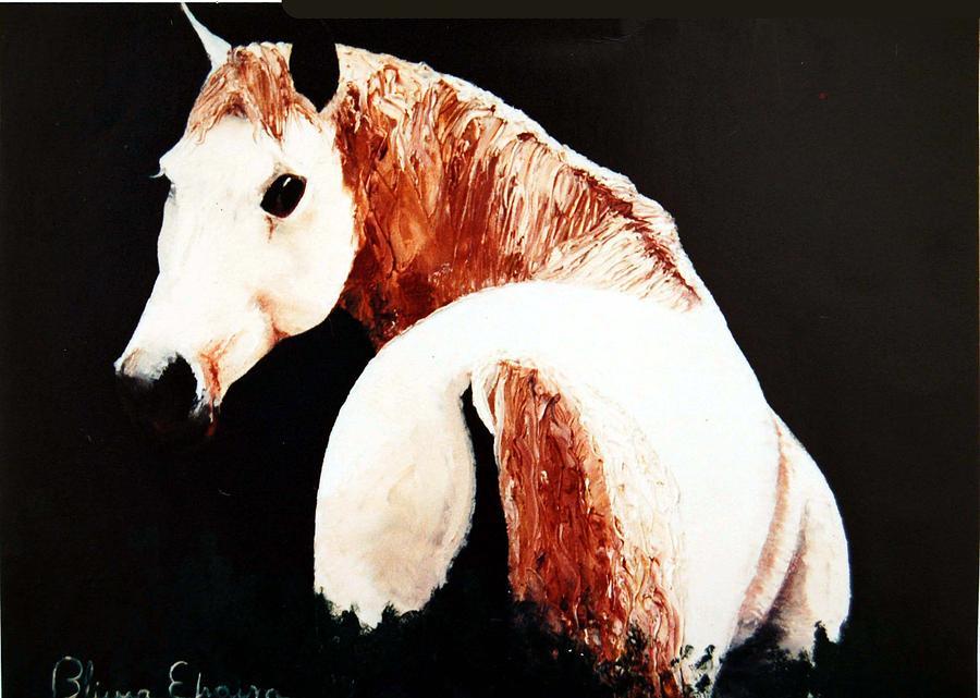 Horse Painting - White Beauty by Blima Efraim