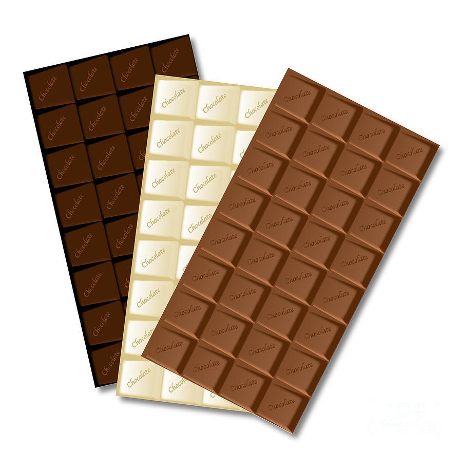 Chocolate Digital Art - White Chocolate Bar by Bigalbaloo Stock