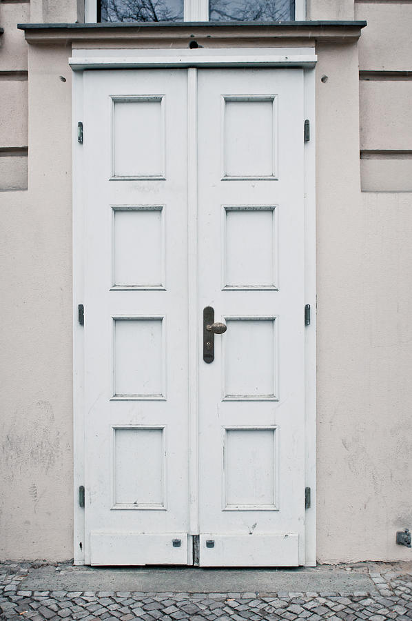 Antique Photograph - White Door by Tom Gowanlock