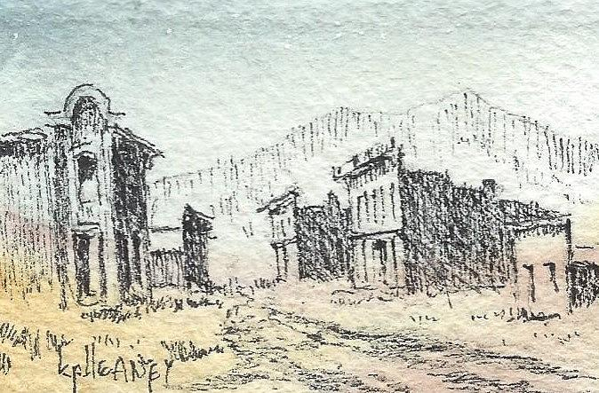 Ghost Town Mixed Media - White Oaks Ghost Town New Mexico by Kevin Heaney