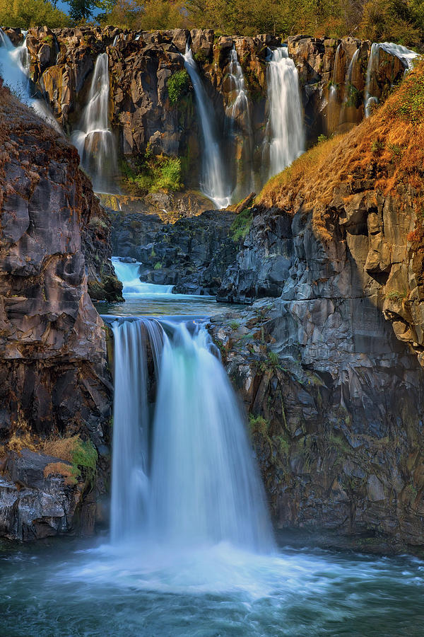 Upper Photograph - White River Falls State Park by David Gn