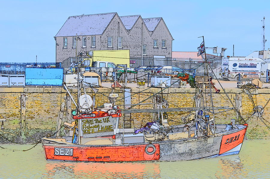 Whitstable Harbour by Wendy Le Ber