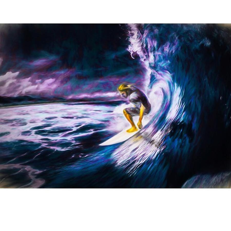 Surf Photograph - Who Likes To #surf. #surfing Is #fun by David Haskett II