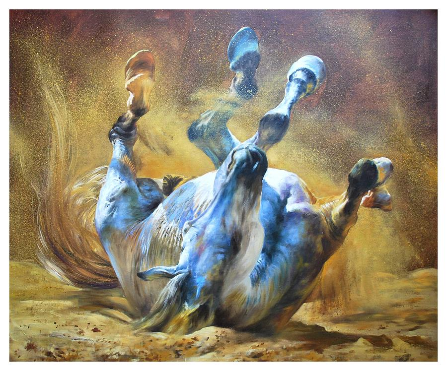Horse Painting - Wild Horse by Manuel Garcia