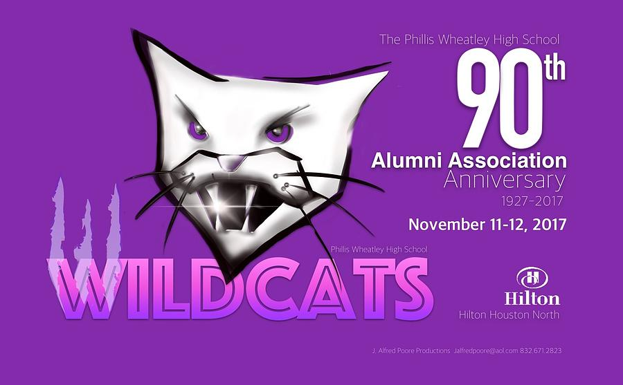 Wildcat 90th Anniversary Test Card Digital Art by Jalfred Poore