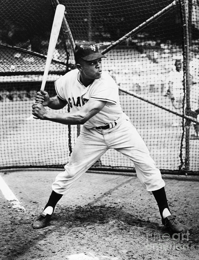 1955 Photograph - Willie Mays (1931- ) by Granger