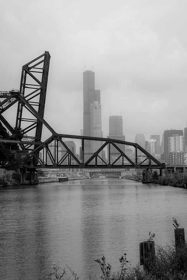 Chicago Photograph - Willis Tower In Fog by Anthony Doudt