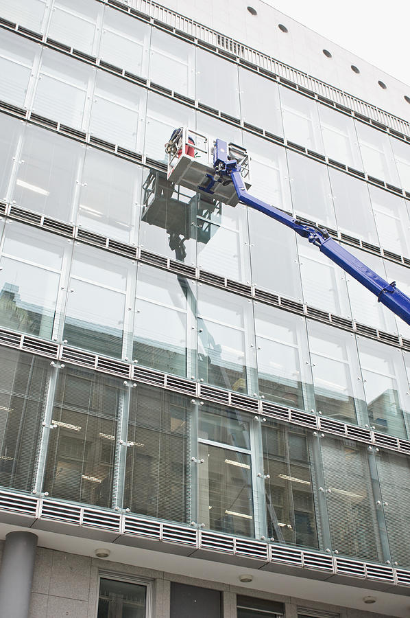 Architectural Photograph - Window Cleaning by Tom Gowanlock