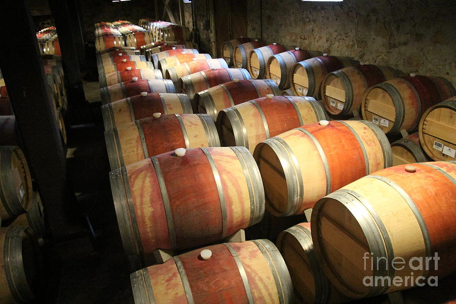 Napa Valley Wine Auction Photograph - Wine Barrels by Anthony Jones