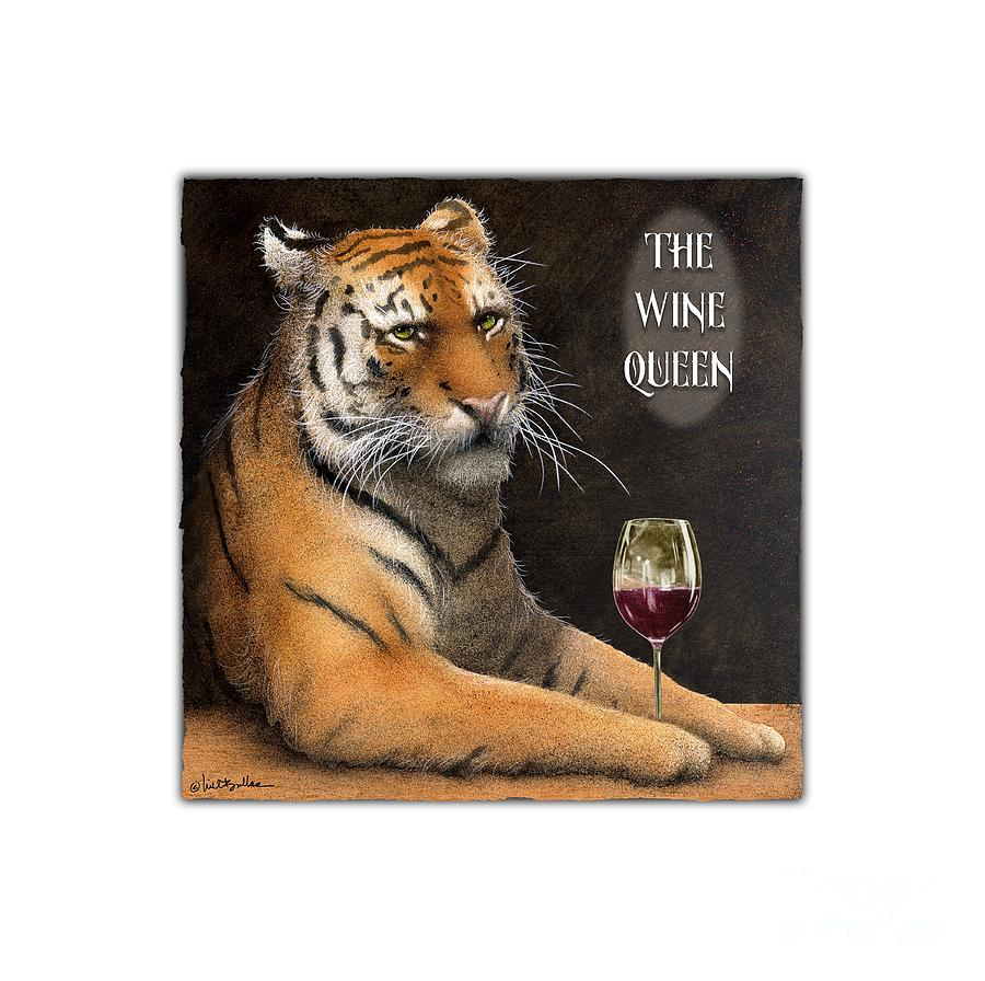 Will Bullas Painting - Wine Queen... by Will Bullas