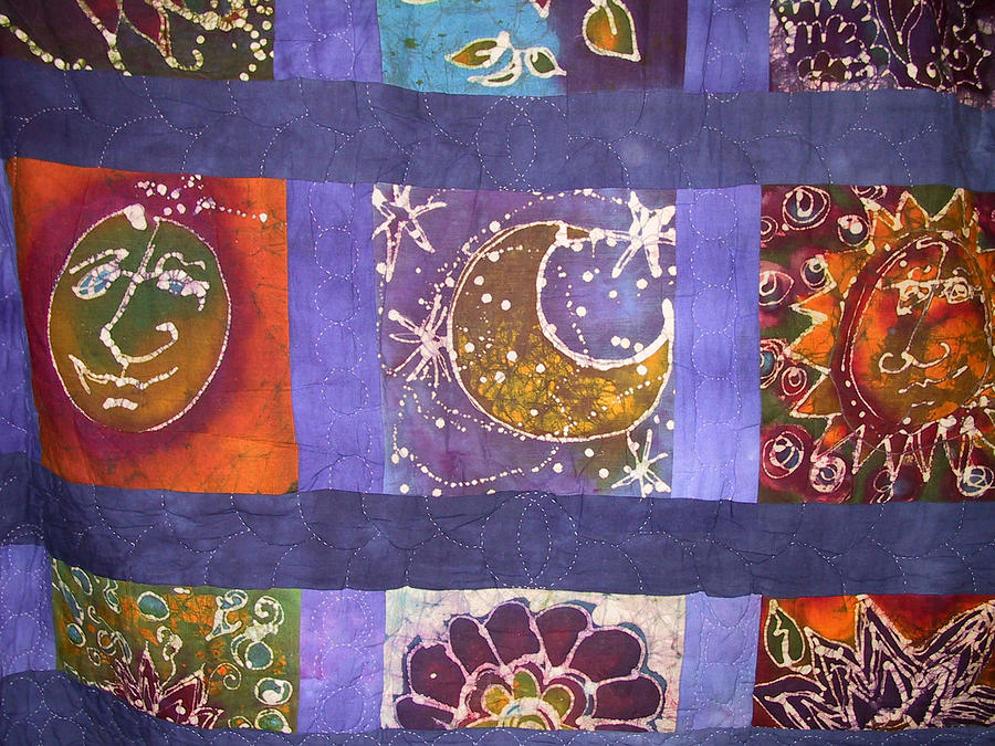 Quilt Tapestry - Textile - Winky Quilt by Deva  Hymen