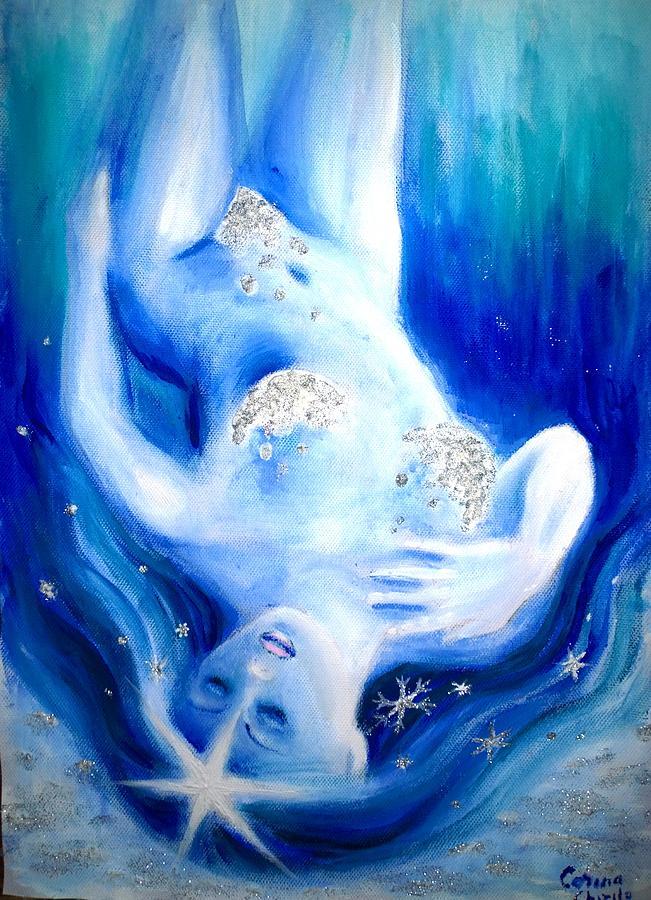 Sexy Nude Woman Painting - Winter fantasy by Chirila Corina