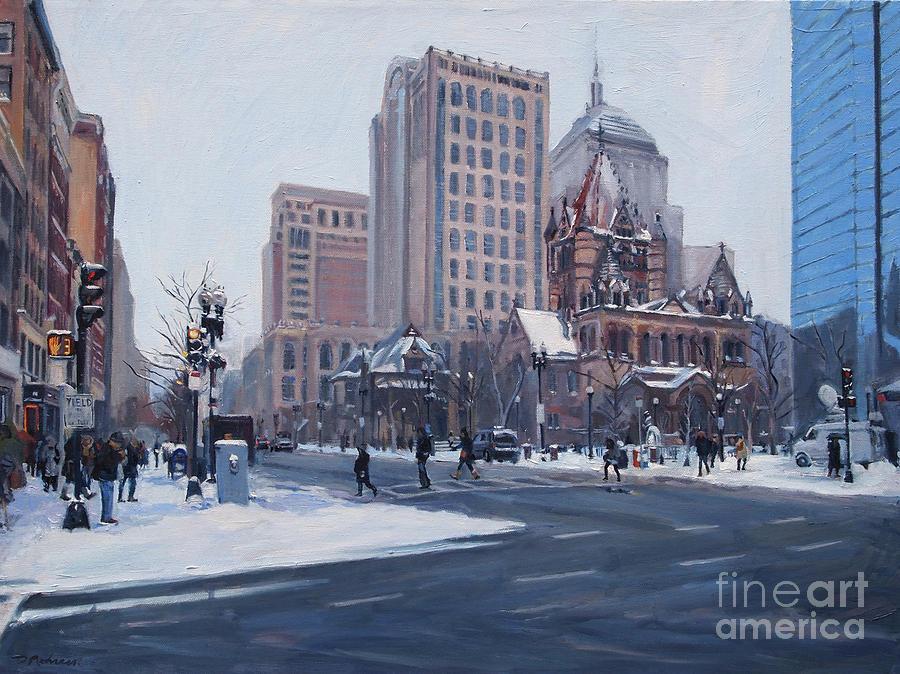 Winter In Copley Square, Boston Ma by Deb Putnam