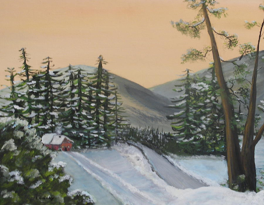 Winter Painting - Winter by Lessandra Grimley