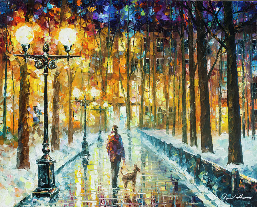 Painting Painting -  Winter Light  by Leonid Afremov