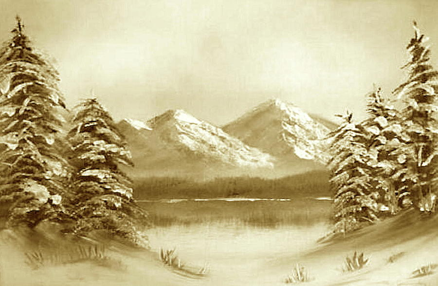 Winter - sepia by Roger Cummiskey