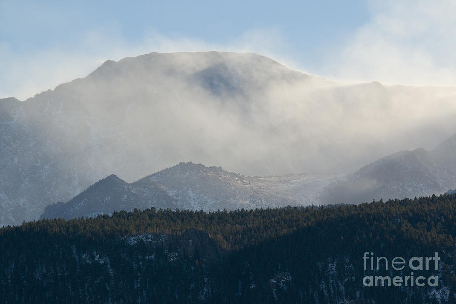 Wicked Winter Storm And Wind On Pikes Peak Colorado Photograph