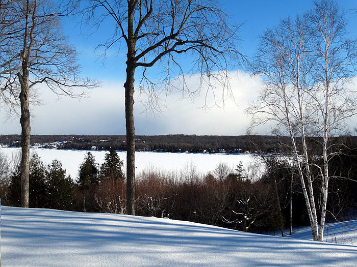 WINTER VIEW OF SISTER BAY by David T Wilkinson