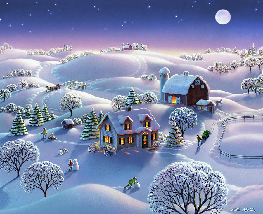 Winter Night  by Robin Moline