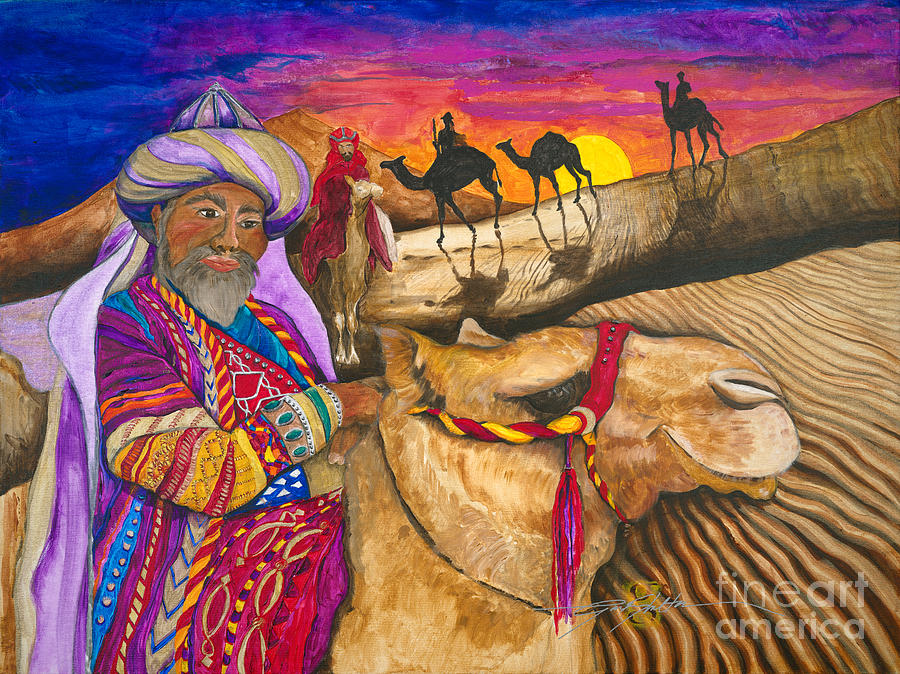 Wisemen Painting - Wisemen by Gail Denney Shelton