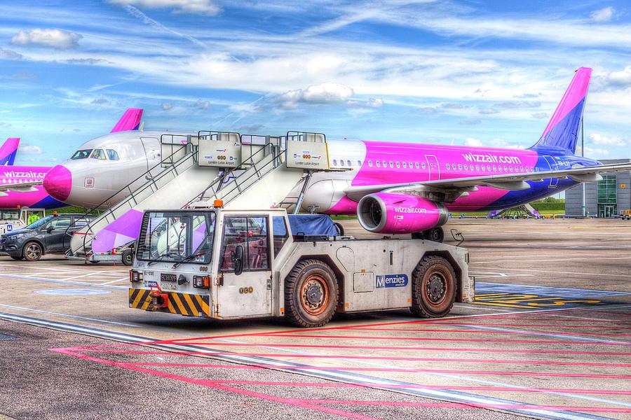 Wizz Air Photograph - Wizz Air Airbus A321 by David Pyatt