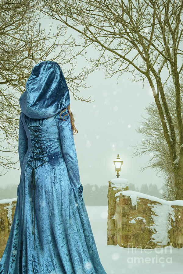 Woman Photograph - Woman In Snow Scene by Amanda Elwell