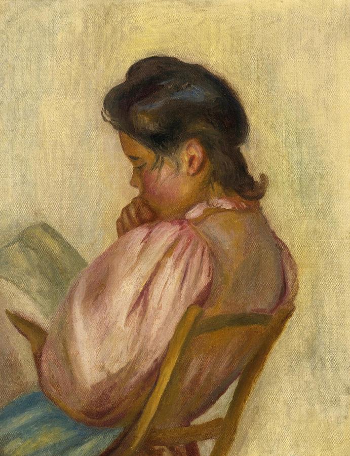 Pierre-auguste Renoir Painting - Woman Reading by Pierre-Auguste Renoir