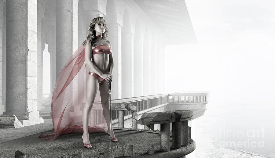 Woman Photograph - Woman Warrior by Maxim Images Prints