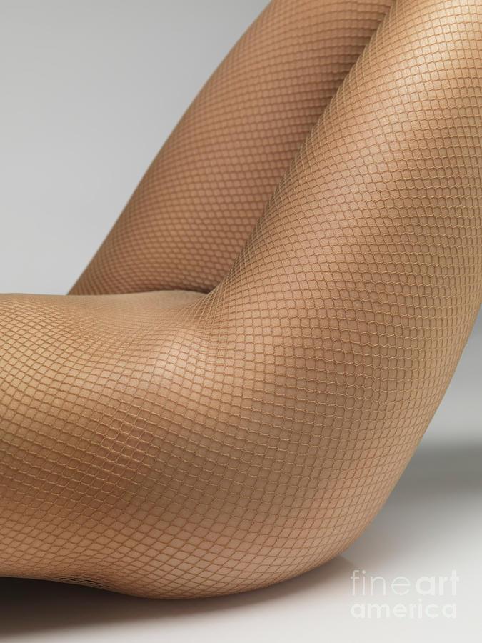 Pantyhose Photograph - Woman Wearing Pantyhose by Oleksiy Maksymenko
