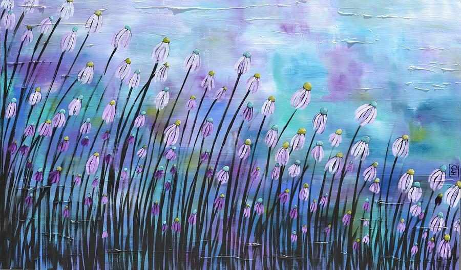Daisy Painting - Wonder by Holly Donohoe