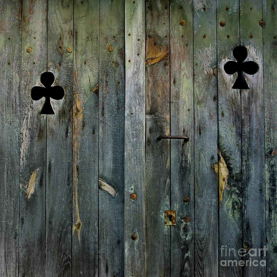 Aged Photograph - Wooden Door by Bernard Jaubert
