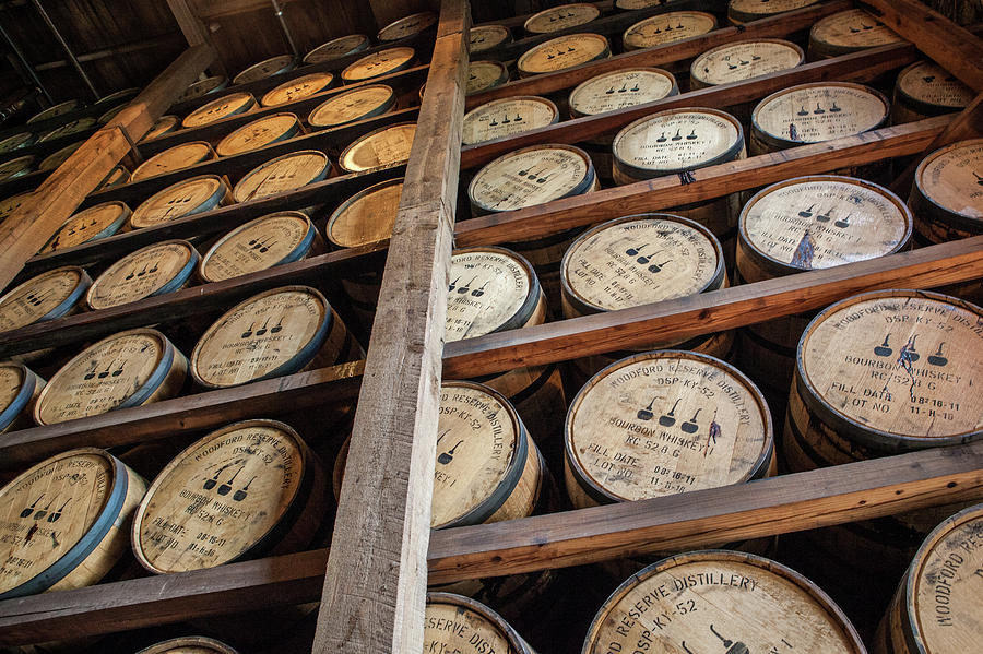 Kentucky Photograph - Woodford Reserve Barrels by John Daly