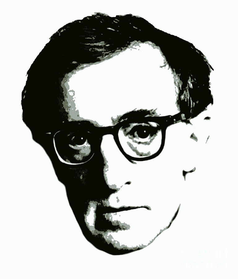 Woody Allen Digital Art by Pd