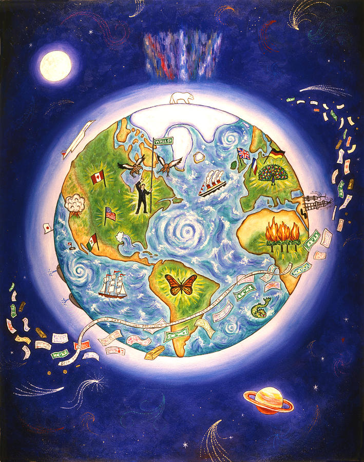 World Painting - Our World by Linda Mears