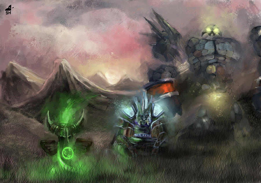 world of warcraft digital art by alice kent