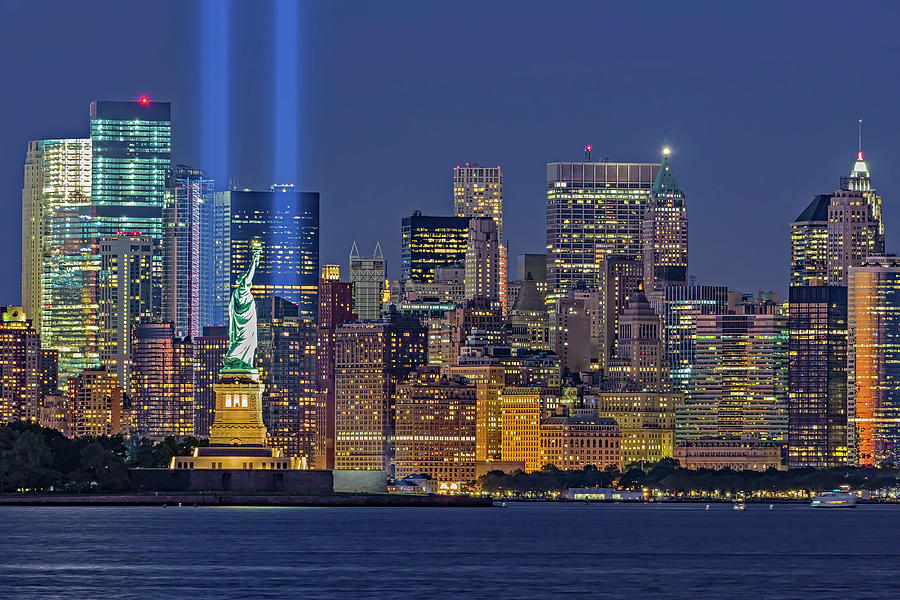 World Trade Center WTC Tribute In Light Memorial II by Susan Candelario