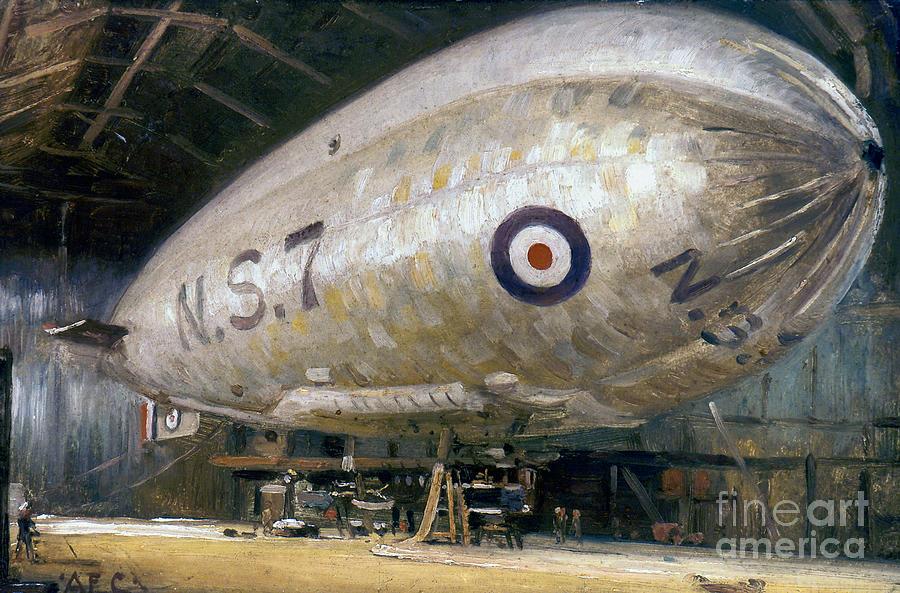 -aviation- Photograph - World War I: Airship by Granger