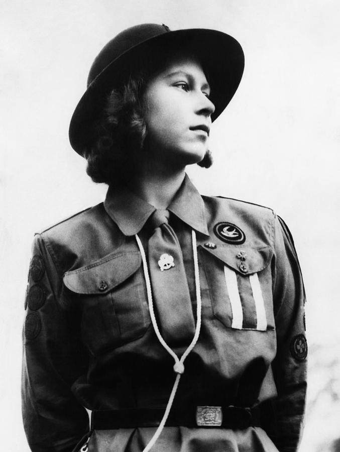 1940s Photograph - World War II. Future Queen Of England by Everett