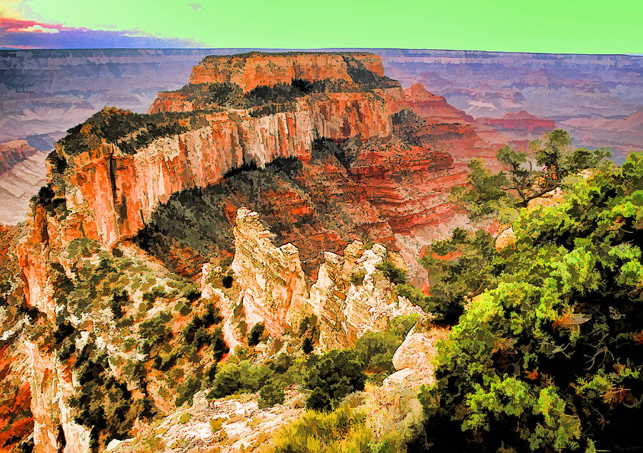 Usa Photograph - Wotans Throne by Dennis Cox