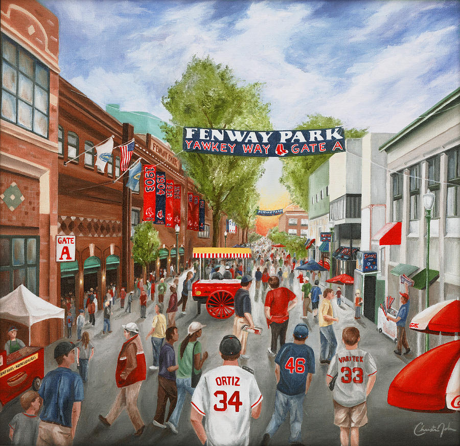 Boston Painting - Yawkey Way by Christine Da Silva