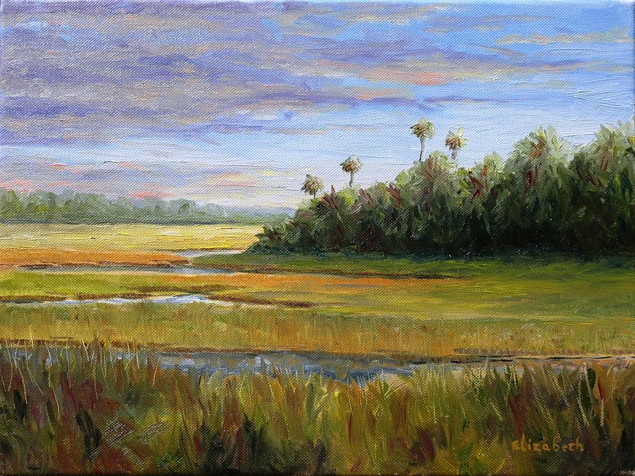 Marsh Painting - Yellow Marsh by Beth Maddox