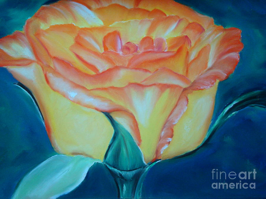 Rose Pastel - Yellow Rose by Melinda Etzold